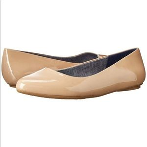 Dr. Scholl's Cool Fit Classic Nude Patent Flat